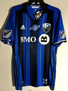 Adidas Authentic MLS MONTREAL IMPACT Team Jersey BLUE sz M
