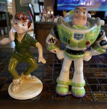 Peter Pan/Buzz Lightyear Porcelain Figurines