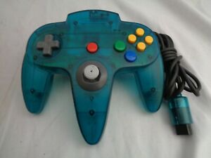 Nintendo N64 Ice Blue Controller OEM Funtastic Excellent Condition! WORKS GREAT!