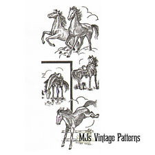 Vintage Embroidery Pattern ~ Horses 8 different designs
