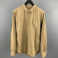 OFFICINE GENERALE Size L Tan Cotton Long Sleeve Shirt
