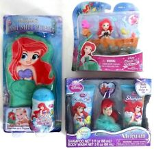 DISNEY The Little Mermaid 4 pc Bath Set + Mitt & Body Wash + Ariel Floating Boat