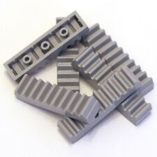Lego Technic Medium Stone Grey 1x4 Racks Toothed Bars 6 Parts - 3743 4211450 NEW