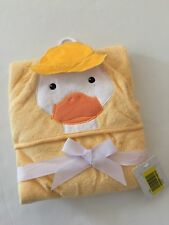 Litte Treasue Baby Boy Girl Terry Cotton Hooded Towel Yellow Duck Layette Gift