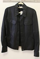 Helmut Lang Leather Trucker Jacket Black Size Small Brand New