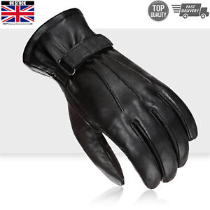 Mens Motorbike Motorcycle Leather Fashion Gloves Touch Screen Compatible