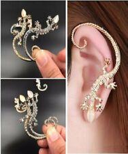 Silver gecko lizard elegant silver plated earring (1 earring per purchase)