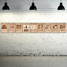 One Piece - Straw Hat Pirate Collection (10) Wooden Wanted Poster