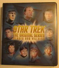 Star Trek TOS Heroes & Villains MASTER set of 278 cards! Leonard Nimoy Autograph