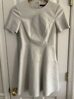 ZARA Beautiful Off White Zipper Faux Leather Dress, Size XS Trafaluc Collection
