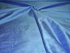 "HANDLOOM 100% SILK DUPION 54"" wide `SEA BLUE` BY HALF MT"