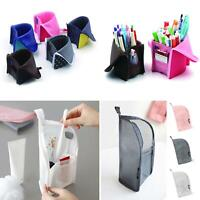 Portable Travel Makeup Brush Toothbrush Cosmetic Bag Organizer Storage Case