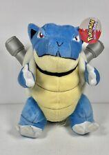 """Vintage Pokemon Blastoise 1995 9"""" TAG Nintendo  Plush Toy Play by Play Rare"""