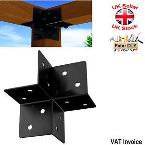 PERGOLA Black Decorative JOIST HANGER Support Corner Bracket Hangers170x85x2.5mm