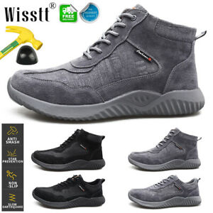 Men's Work Safety Shoes Ankle Steel Toe Caps Bulletproof Boots Indestructible