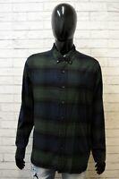Levi's Camicia Uomo Maglia Taglia L Shirt Men Fantasia a Quadri Cotone Caldo
