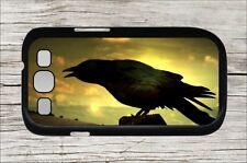 BIRD CROW AT SUNSET SAMSUNG GALAXY S3 CASE COVER -mo09fr