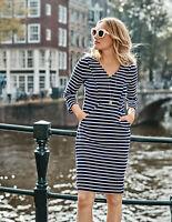 Boden Kleid - Bronte Ottoman Dress - Taschen Stretch NEU - UK 8 L EU 36