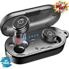 New listing Tozo T10 Bluetooth 5.0 Wireless Earbuds with Wireless Charging Case Ipx8 Stereo