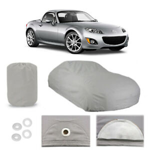 Mazda MX-5 Miata 4 Layer Car Cover Fitted Outdoor Water Proof Rain Snow Sun Dust