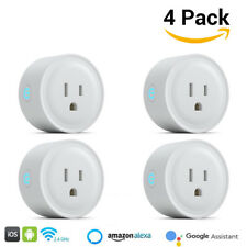 4pcs Smart Wi-Fi Mini Outlet Plug Switch Works with Google Home Alexa EchoBLCA