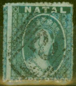 Natal 1861 3d Blue SG12 Fine Used