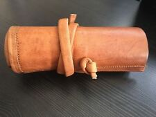 Vintage Pencil Pen Leather Case Cosmetic Pouch Pocket Brush Holder Makeup Bag