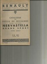 RENAULT NERVASTELLA GRAND SPORT ABM3 - PR 301 - 1936 / CATALOGUE PIECES RECHANGE