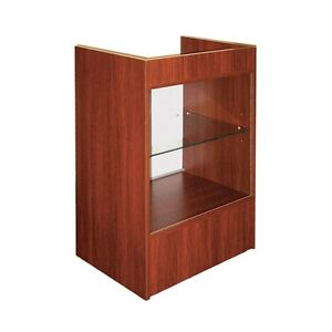 CASH REGISTER STAND WITH GLASS FRONT SHOWCASE /CHERRY - SCRGC