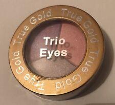 True Gold Triple Eyeshadow Trio Eyes Pack Pink Silver Purple New Sealed