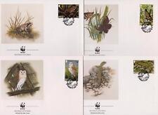 Jersey 1989 World Wildlife Fund - Island Wildlife - 4 First Day Covers - (61)