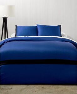 Calvin Klein Joan 3P Cobalt Blue Black King duvet cover shams $250