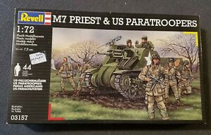 M7/M-7 HMC Priest & US Paratroopers 1/72 Revell Factory Sealed 03157