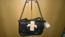 Designer Hampton black & beige leather handbag with bow. BNWT. RRP £65