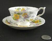 PARAGON FLORAL ANTIQUE CABINET TEA CUP AND SAUCER W DOUBLE WARRANT