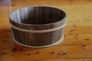 Round Wooden Dough Bowl, Newborn Photo Prop, Basket, Bowl