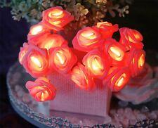 LED-Lichterkette - Basket Line Indoor - Batterie; Timer - 2,60m - 15x rote Rose