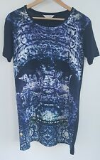 MISS SELFRIDGE Multi Print Oversized T-shirt, Size 8 - VGC