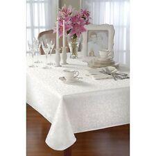 "Lenox Opal Innocence 60"" x 140"" Oblong Platinum Silver Tablecloth"