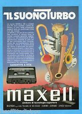 QUATTROR981-PUBBLICITA'/ADVERTISING-1981- MAXELL UD - AUDIOCASSETTE