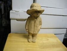 """Dave Grossman Clay Sculpture Boy In Wide Brimmed Hat  13"""" Tall 5"""" Wide Nice!"""