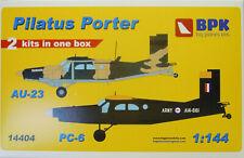 Pilatus PC-6 / AU-23 ,2in1, Thai AF, Österreich,USAF,1:144, Plastik ,BPK, NEU