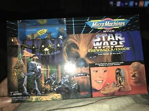 STAR WARS MICRO MACHINES CHEWBACCA / ENDOR TRANSFORMING ACTION SET - NEW  MIB