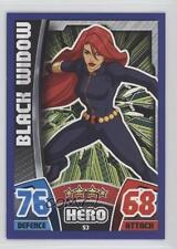 2015 Topps Marvel Avengers Hero Attax Base European #53 Black Widow Card 0p3