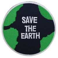 Patche écusson Save the Earth Sauvons la planète thermocollant patch brodé
