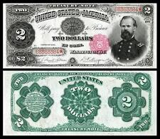 NICE CRISP UNCIRCULATED U.S. 1891 $2.00 TREASURY NOTE COPY!