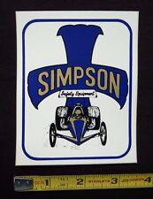 Simpson Safety Equipment Decal Sticker~Original 70's Vintage~NHRA AHRA Racing