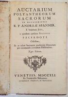 ANDREAS SPANNER AUCTARIUM POLYANTHEORUM SACRORUM 1741 SAN FRANCESCO DA PAOLA