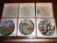 """Woodmere Seima Collector Plate """"The Little People"""" set of 3"""