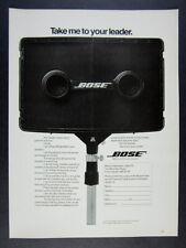 1980 Bose 802 Loudspeaker Speaker vintage print Ad